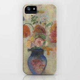 Odilon Redon - Large Vase with Flowers iPhone Case