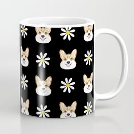 Corgi welsh corgi daisy flowers spring summer florals dog breed pet portrait by pet friendly Coffee Mug