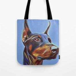 Blue Doberman Tote Bag