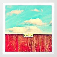 ROCK - Scrabble 2 Art Print