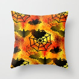 Halloween Abstract Throw Pillow