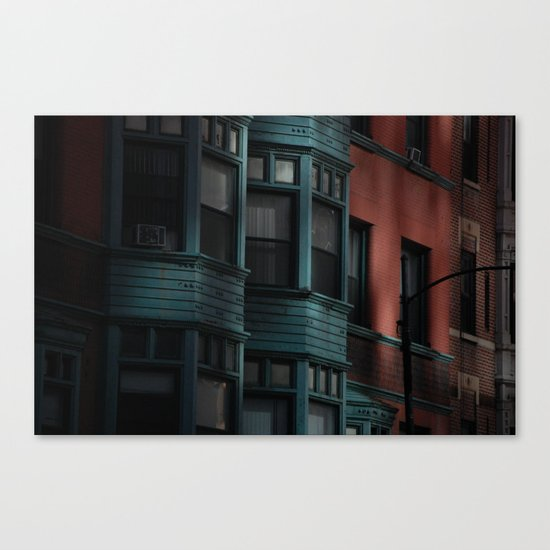 Apartment in Green Canvas Print