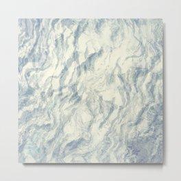 Painted paper gray agate Metal Print