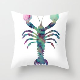 Cancer, animal, zodiac sign, alcohol ink Throw Pillow