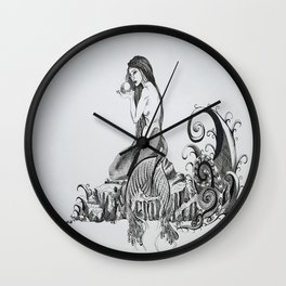 Mermaid and Monster Wall Clock