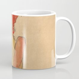 "Egon Schiele ""Girl Nude with Folded Arms"" Coffee Mug"