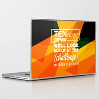 motivational Laptop & iPad Skins featuring Motivational Quote by Zenife