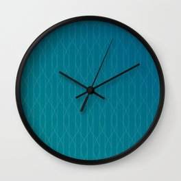 Wave pattern in teal Wall Clock