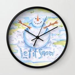 Let it Snow! Snowman Wall Clock