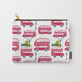 London Bus Pattern Carry-All Pouch
