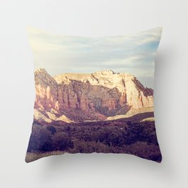 Sunset Over Sedona Throw Pillow