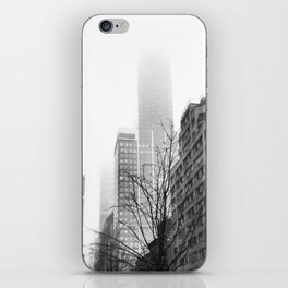 NYC in Fog iPhone Skin