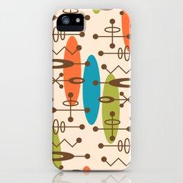 Mid Century Modern Radioactive Surfer 335 iPhone Case