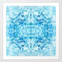 Crystal Stone - In Teal Aqua & Blue Art Print