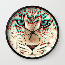leopard 3D Wall Clock
