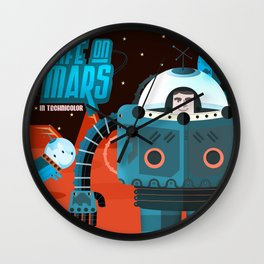 Life on mars Wall Clock