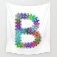 letter Wall Tapestries featuring Letter B by David Zydd