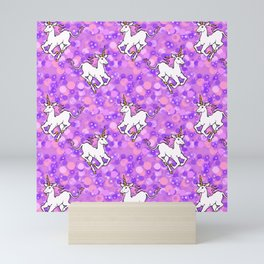 Unicorns in Purplespace Mini Art Print