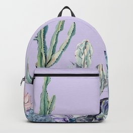 Desert Gemstone Oasis Light Purple Backpack