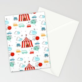 Cute children cars Stationery Cards