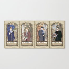 Sherlock Victorian Language of Flowers Four Seasons Canvas Print