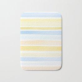 Watercolour stripes 01 Pale sea Bath Mat