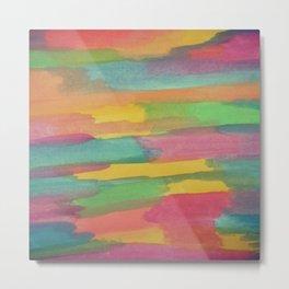 Rainbow Sorbet Abstract Art Metal Print