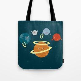Saturn Ring Toss Tote Bag