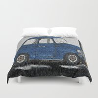 cuba Duvet Covers featuring Cuba Car by Sartoris ART