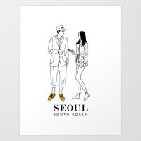 Seoul, South Korea Art Print