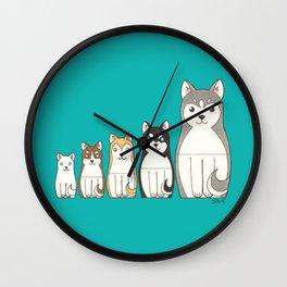 Matryoshka Husky Wall Clock