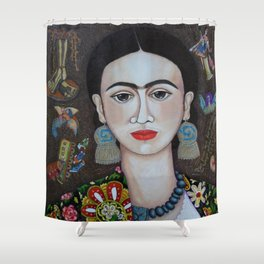 Frida thoughts Shower Curtain