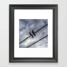 Couple of Crows Framed Art Print