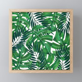 Jungle leaves Framed Mini Art Print