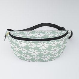 Daisies In The Summer Breeze - Green Grey White Fanny Pack