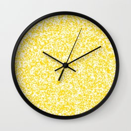 Tiny Spots - White and Gold Yellow Wall Clock