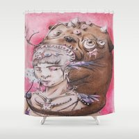 smoke Shower Curtains featuring Smoke by Amy V