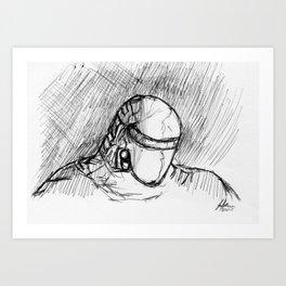 Warbot Sketch #055 Art Print