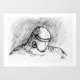 Warbot Sketch #055 Art Print