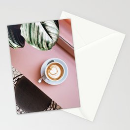 pink latte Stationery Cards