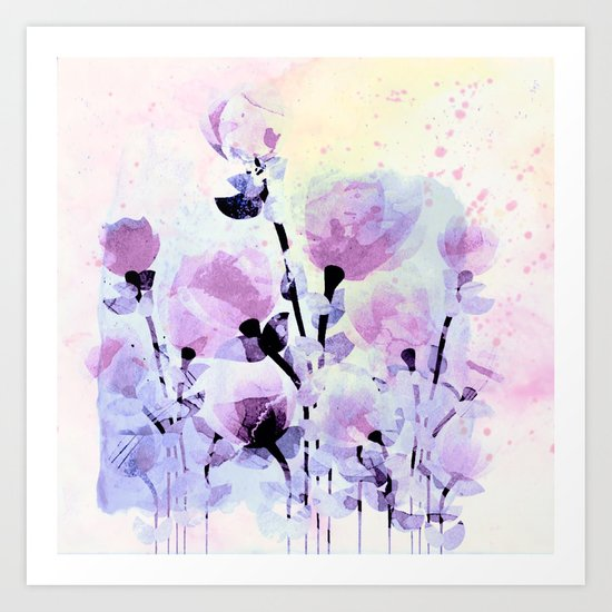 soft pink and purple bouquet Art Print