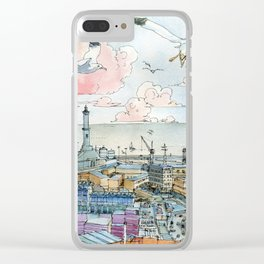 Genova e la Lanterna Clear iPhone Case