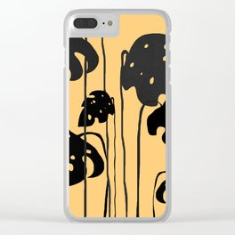 gold and black leaves Clear iPhone Case