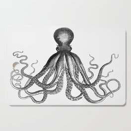 Octopus | Vintage Octopus | Tentacles | Black and White | Cutting Board