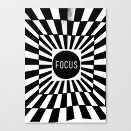 Black and White Focus (Customizable Label) Canvas Print
