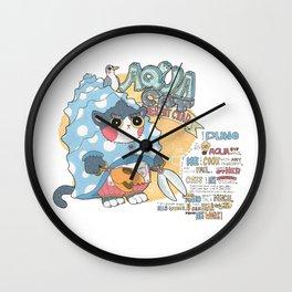 Aqua cat_Puno Wall Clock