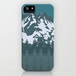 Trees and Mountains iPhone Case