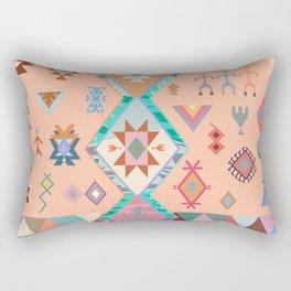 Peachy Boho Kilim Rectangular Pillow