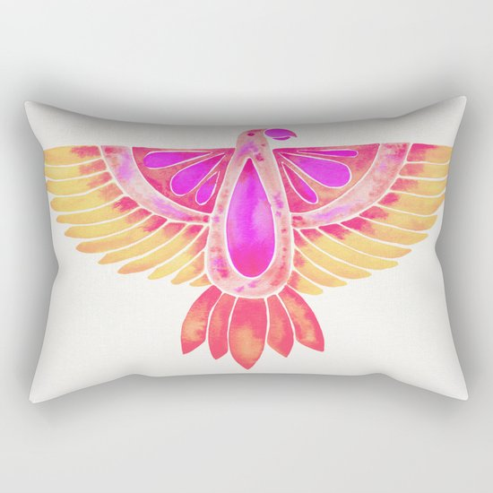 Parrot – Melon Ombré Rectangular Pillow