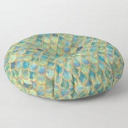 Mermaid Scales (green) Floor Pillow